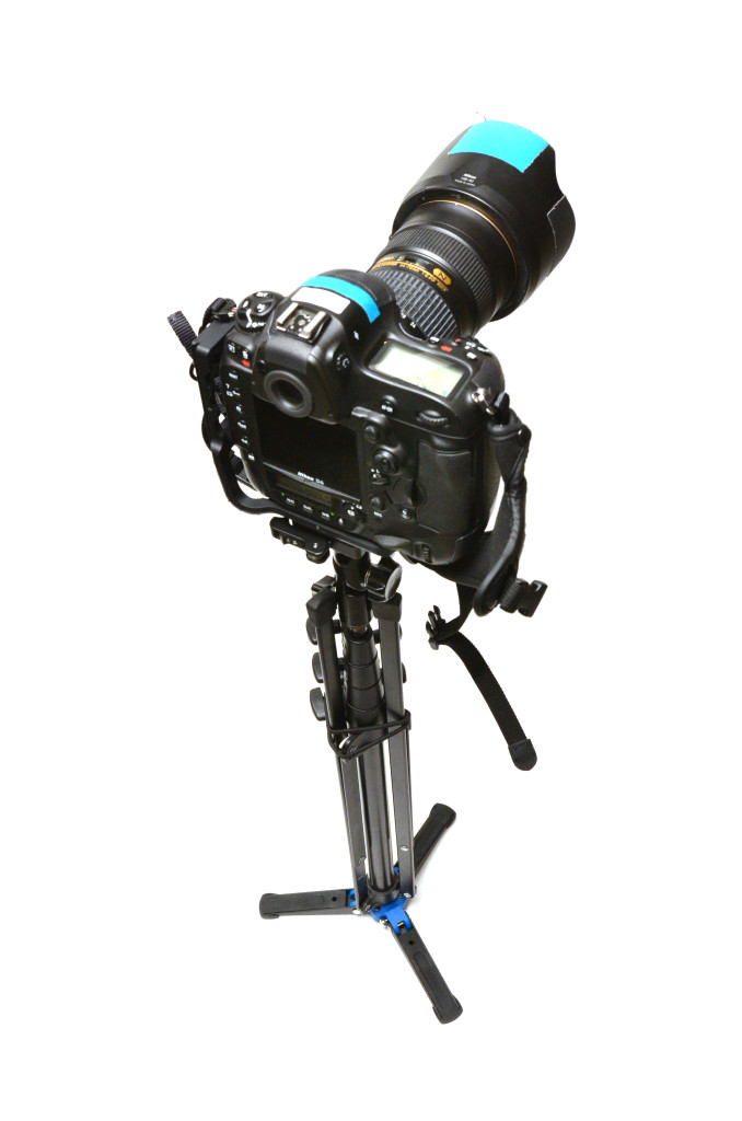 Camera mounted standing